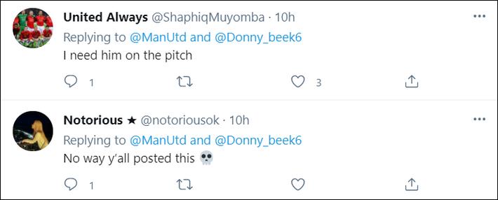 Fan MU bất bình vì cách đội nhà chúc mừng sinh nhật Van de Beek - Ảnh 2.