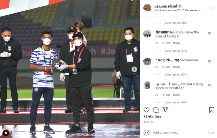 Báo Indonesia sốc khi thấy tài khoản MXH của cầu thủ đội nhà bị fan Việt tấn công - Ảnh 1.