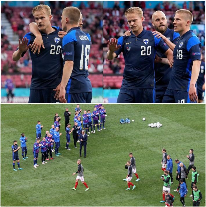 Lá Quốc kỳ Phần Lan che cho Eriksen và những hình ảnh khiến cả thế giới quặn thắt con tim - Ảnh 14.