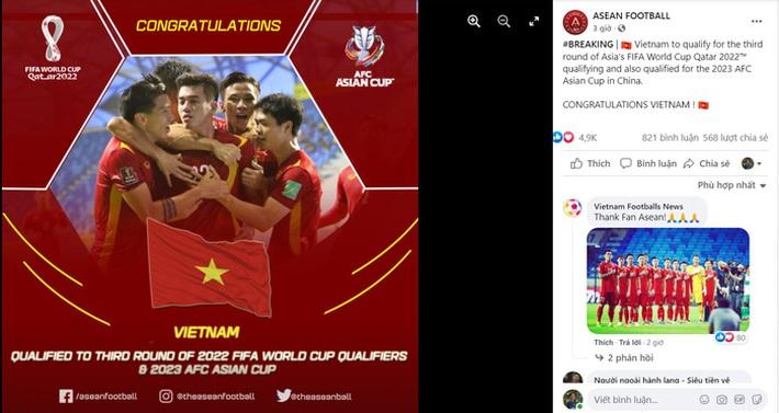 Người hâm mộ Đông Nam Á chúc mừng thành tích lịch sử của đội tuyển Việt Nam - Ảnh 2.