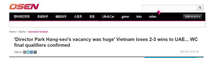 Báo Hàn Quốc: Sự thiếu vắng HLV Park Hang-seo quá chí mạng - Ảnh 2.