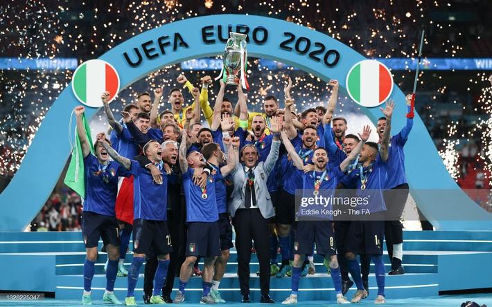 Ảnh: Đội tuyển Italia ăn mừng chức vô địch Euro 2020 trong nỗi đau khôn cùng của người Anh - Ảnh 6.