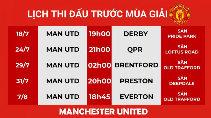 Lịch thi đấu bóng đá hôm nay 18/7: MU tái ngộ với Wayne Rooney - Ảnh 1.