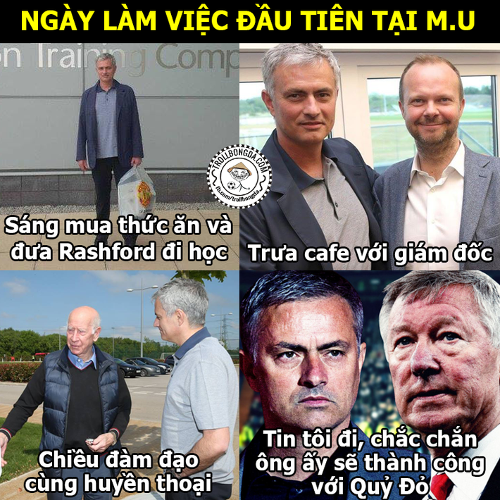 Ảnh chế: Mourinho vội đến Man United vì lo sợ... ĐT Việt Nam - Ảnh 1.