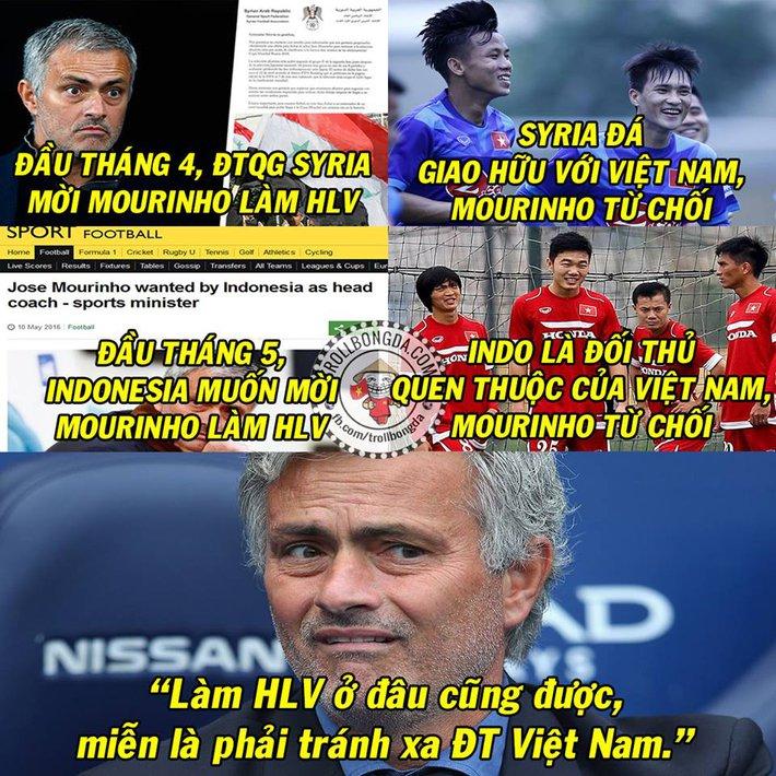 Ảnh chế: Mourinho vội đến Man United vì lo sợ... ĐT Việt Nam - Ảnh 2.