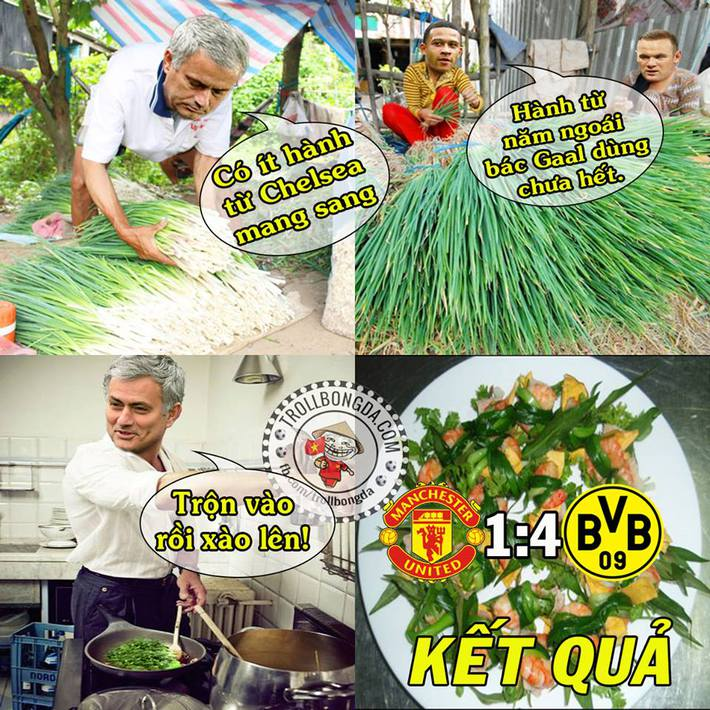 Mourinho thảm bại, Van Gaal đập tay ăn mừng với David Moyes - Ảnh 1.