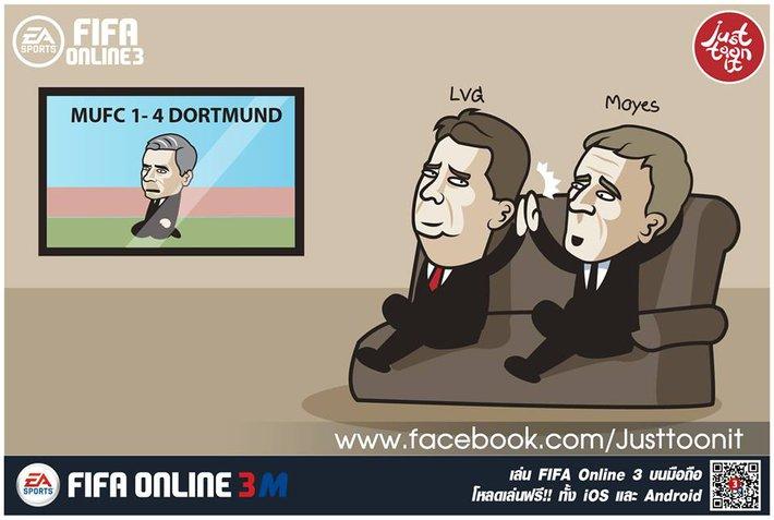 Mourinho thảm bại, Van Gaal đập tay ăn mừng với David Moyes - Ảnh 3.