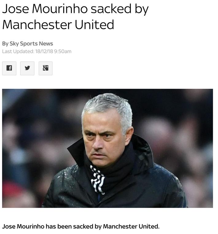CHÍNH THỨC: Man United sa thải Mourinho, Carrick tạm nắm Quỷ đỏ - Ảnh 1.