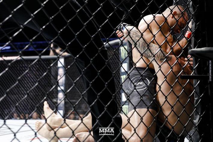Tung liên hoàn đòn dài khó tin, võ sĩ người Mỹ nhuộm đỏ mặt cựu vương UFC - Ảnh 7.