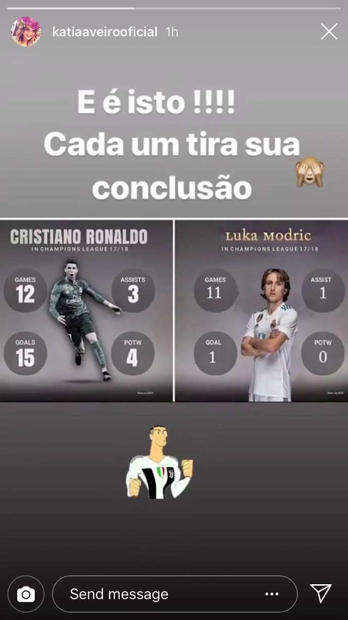 Bực mình hộ em trai, chị gái Ronaldo mỉa mai Luka Modric - Ảnh 1.