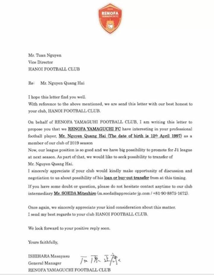 """CLB Nhật Bản chính thức gửi """"thư ngỏ"""", mong chiêu mộ Quang Hải - Ảnh 1."""