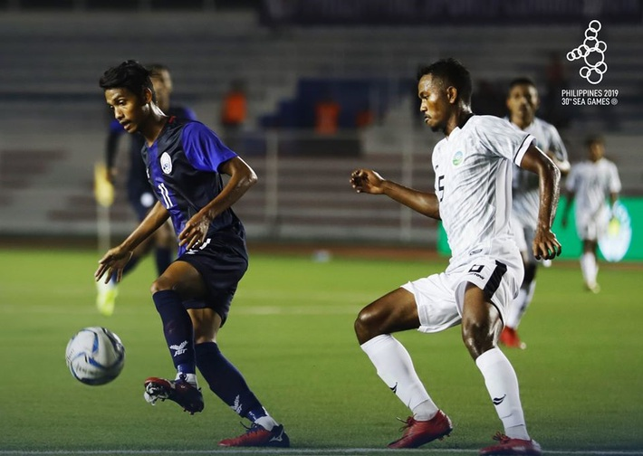 Campuchia đè bẹp Timor-Leste, đứng đầu bảng A tại SEA Games 2019 - Ảnh 2.
