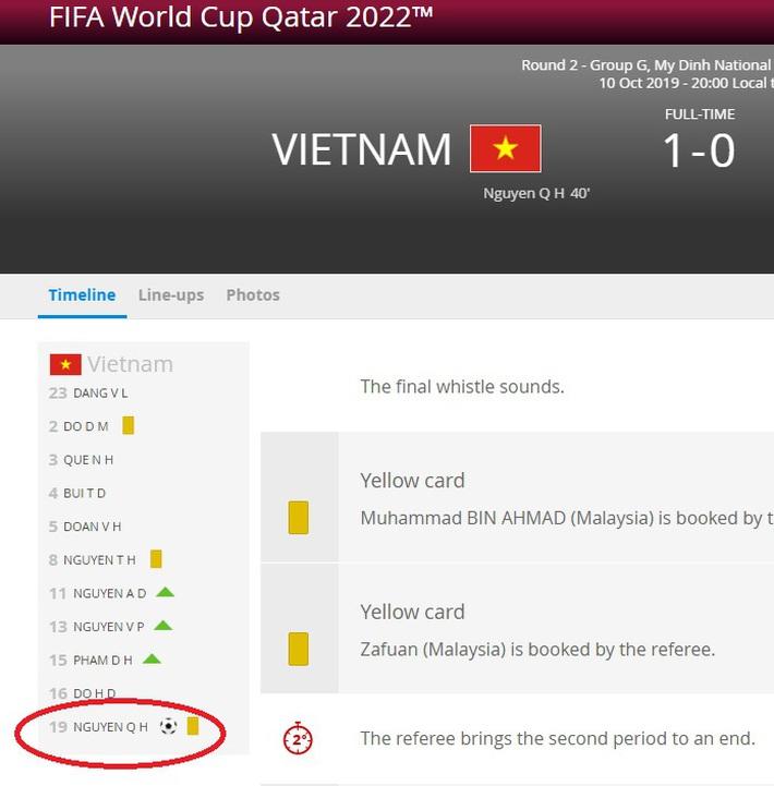 Hi hữu: Văn Hậu dính thẻ nhưng cả FIFA lẫn AFC đều nhầm lẫn thành Quang Hải - Ảnh 1.