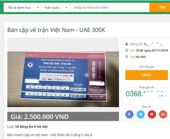 VFF trả vé trận Việt Nam - UAE, dân buôn chợ đen lập tức hét giá gấp 4 lần - Ảnh 2.