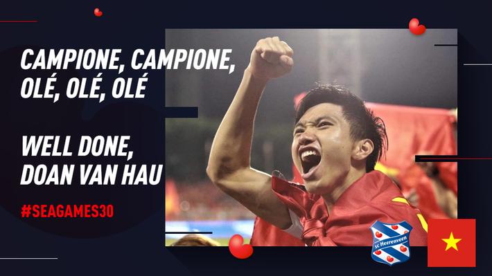 SC Heerenveen phấn khích với chiến công của Đoàn Văn Hậu trong màu áo U22 Việt Nam - Ảnh 2.