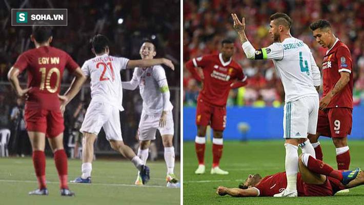 Indonesia thua Việt Nam y hệt Liverpool thua Real, Văn Hậu triệt hạ y hệt Sergio Ramos - Ảnh 1.