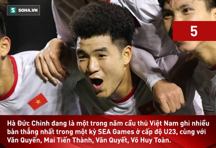 Ghi bàn nhấn chìm Singapore, Hà Đức Chinh san bằng cột mốc lịch sử tại SEA Games - Ảnh 2.