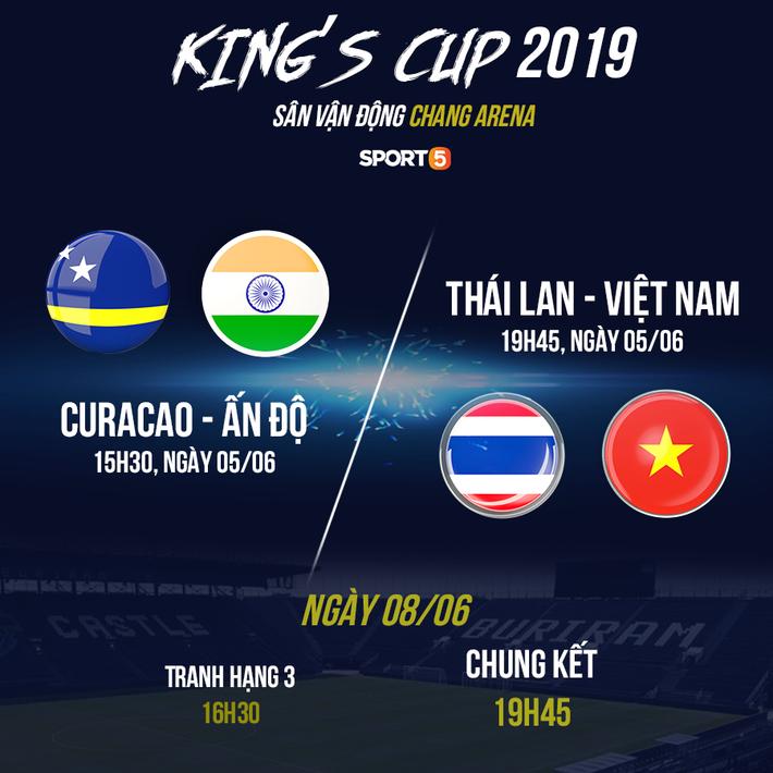 Lịch thi đấu King's Cup 2019: HLV Park Hang-seo đổi lịch sang Thái Lan sớm hơn dự kiến - Ảnh 2.