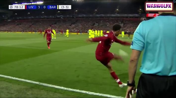 Cận cảnh quả đá phạt góc thiên tài của Liverpool khiến Messi thẫn thờ, uất hận - Ảnh 3.