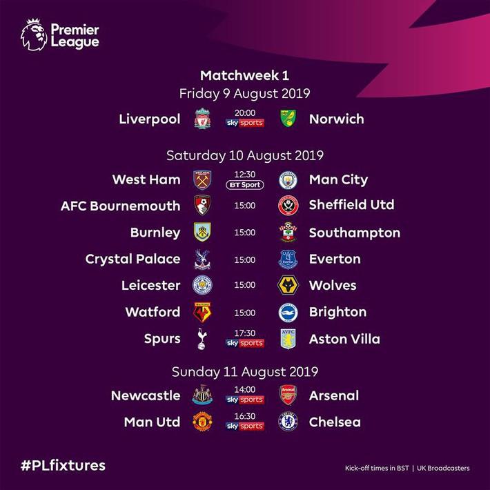 MU đại chiến Chelsea ngay vòng mở màn Ngoại hạng Anh 2019/2020 - Ảnh 1.