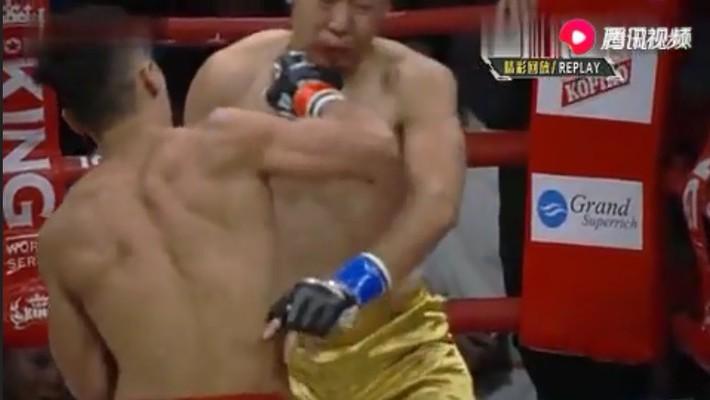 Võ sĩ Trung Quốc tung cú đấm phản đòn chí mạng vào cổ, hạ gục đấu sĩ Nhật Bản sau 6 giây - Ảnh 2.
