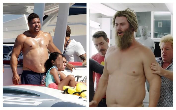 Đi tắm biển, Ronaldo béo thoải mái để lộ vòng bụng thùng nước lèo không kém thần Thor - Ảnh 3.