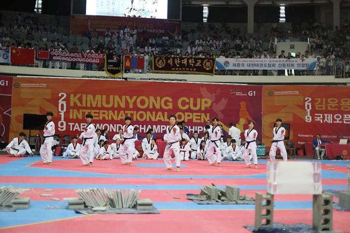 Tròn mắt xem đại sư Taekwondo dùng tay không chém 3 khối nước đá - Ảnh 4.