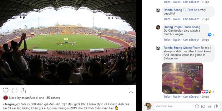 Chia sẻ quý giá của fan Campuchia phía sau điều kỳ lạ ở V.League - Ảnh 1.