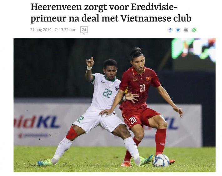 Báo Hà Lan: Văn Hậu là món hời của Heerenveen - Ảnh 1.