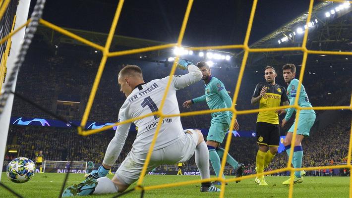 Thủ môn tuyển Đức dùng tiểu xảo kiểu V-League cứu Barcelona khỏi trận thua - Ảnh 1.