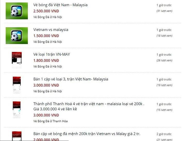 Vé xem Việt Nam vs Malaysia bị hét giá... cắt cổ - Ảnh 5.
