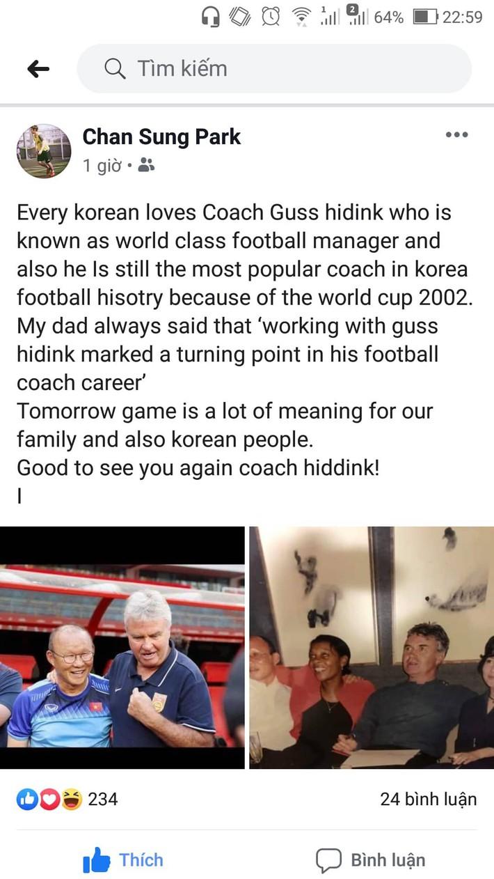 HLV Park Hang-seo bật khóc khi gặp lại sếp cũ Guus Hiddink - Ảnh 2.