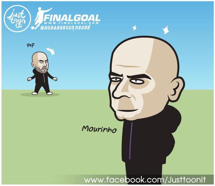 Sau nhiều năm chê bai, Mourinho gây sốc khi cạo trọc đầu giống hệt Pep Guardiola - Ảnh 2.
