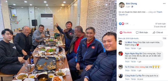 HLV Mai Đức Chung cùng ăn tối với thầy Park sau chiến dịch thành công tại Hàn Quốc - Ảnh 1.
