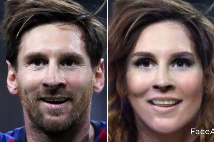 Chùm ảnh: Ronaldo, Messi đầy quyến rũ trong phiên bản... con gái - Ảnh 2.