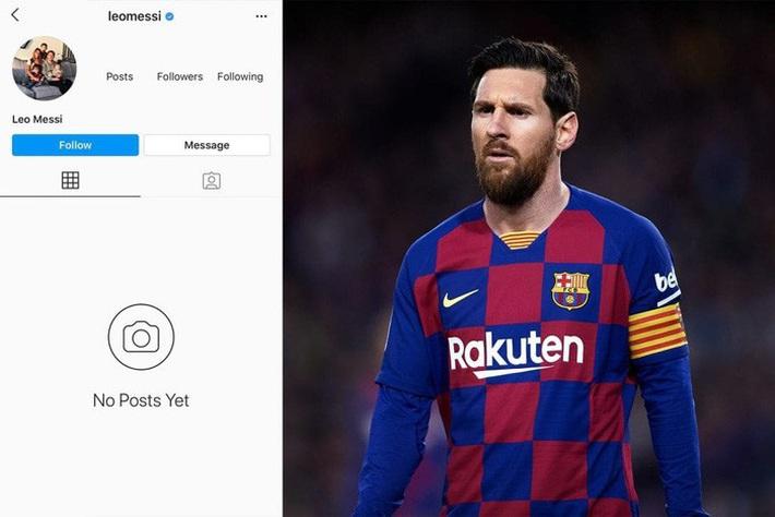 Fan tá hỏa khi chứng kiến tài khoản 152 triệu follow của Messi bỗng mất sạch: Phải chăng có bàn tay đen của Ronaldo? - Ảnh 1.