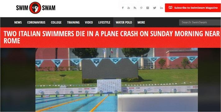 Hai tay bơi Ý tử nạn vì tai nạn máy bay - Ảnh 1.