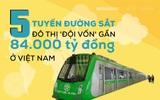 [INFOGRAPHIC] 5 tuyến đường sắt đội vốn gần 4 tỷ đô: Dự án Trung Quốc xây tăng 9.000 tỷ, không biết khi nào chạy