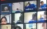 Nam sinh viên đòi 'solo' với thầy giáo trong giờ học trực tuyến