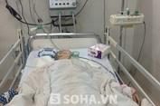 Em trai cắt chân chị bị u não trong phòng bệnh viện