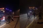 Nhóm thanh niên chặn xe xin tiền trên cao tốc