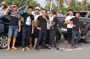 Giang hồ vây xe cảnh sát ở Đồng Nai