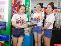Người đẹp tại triển lãm Vietnam Telecomp 2013