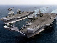Xem siêu tiêm kích F-35B cất cánh trên tàu sân bay Elizabeth