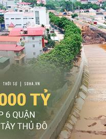 Đại dự án 7.000 tỷ đồng chống ngập cho 6 quận huyện phía Tây TP Hà Nội chậm tiến độ, ngập ngụa trong rác