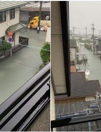 Hình ảnh 'lũ lụt không cọng rác' ở Nhật Bản gây sốt