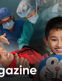 Cậu bé 12 năm sống trên chiếc bô xanh: Khát khao sống của đứa trẻ không bụng, mang bệnh 1 tỷ người mới có 1 người bị