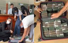 Vợ chồng Thủy Tiên đã ra tới miền Trung, mang theo một vali đầy tiền cứu trợ