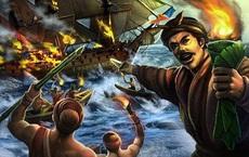 Chiến hạm Pháp đang tuần tiễu bố ráp, bị quân khởi nghĩa đốt cháy rực trên sông!