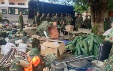 [ẢNH] Lực lượng quân đội vào hiện trường vụ sạt lở đất vùi lấp nhiều người ở Nam Trà My